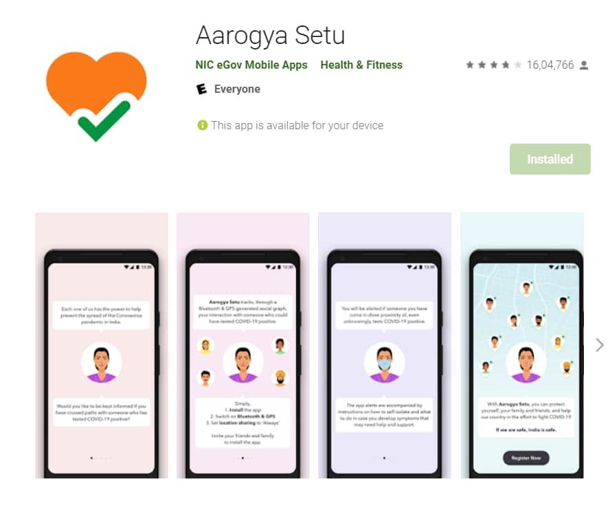 download corona vaccination certificate from aarogya setu app