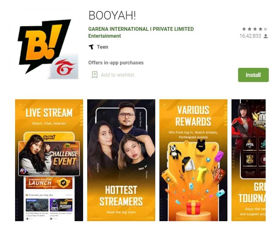 booyah app for earn free fire diamonds