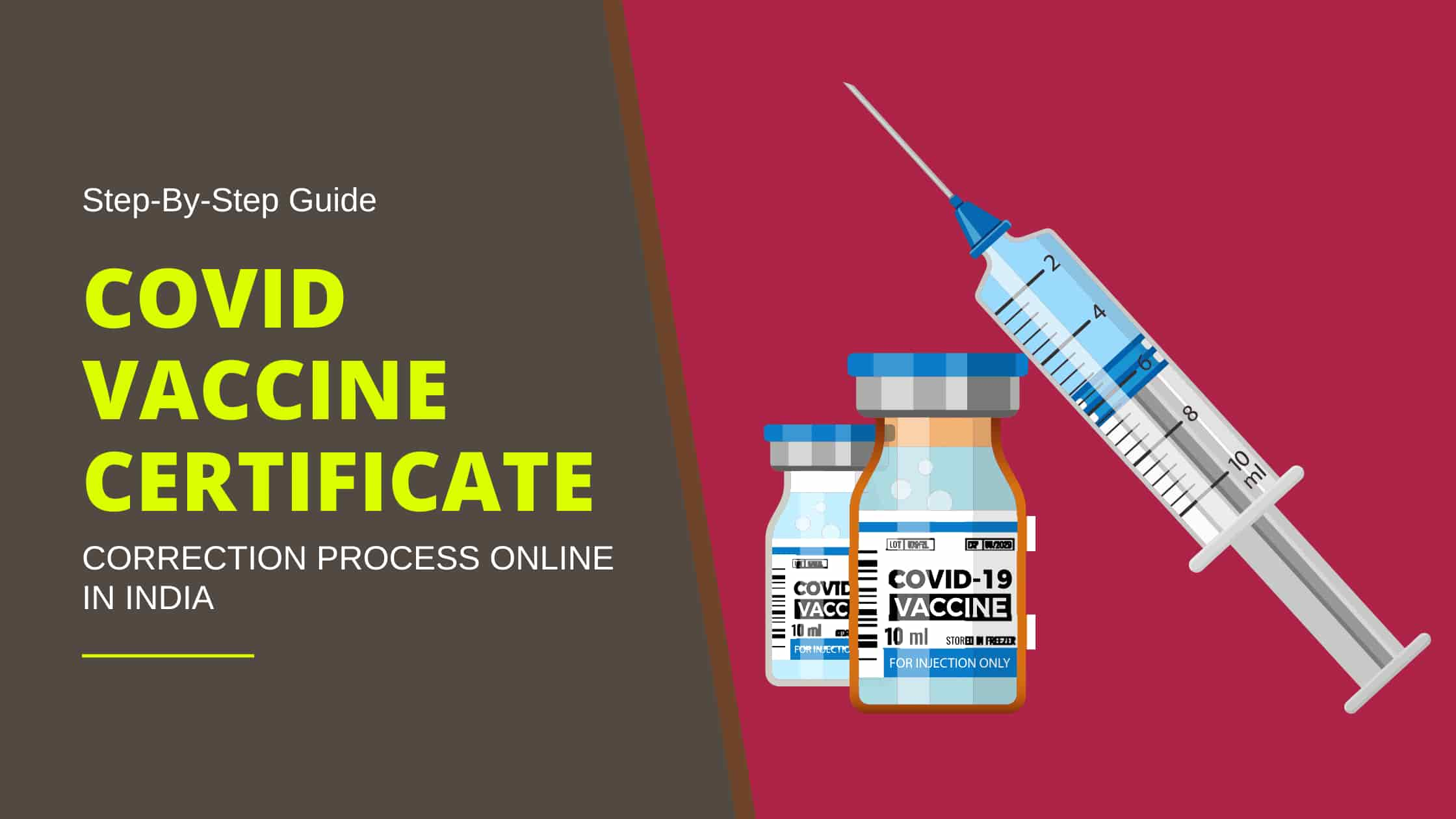 Covid Vaccine Certificate correction process online in India