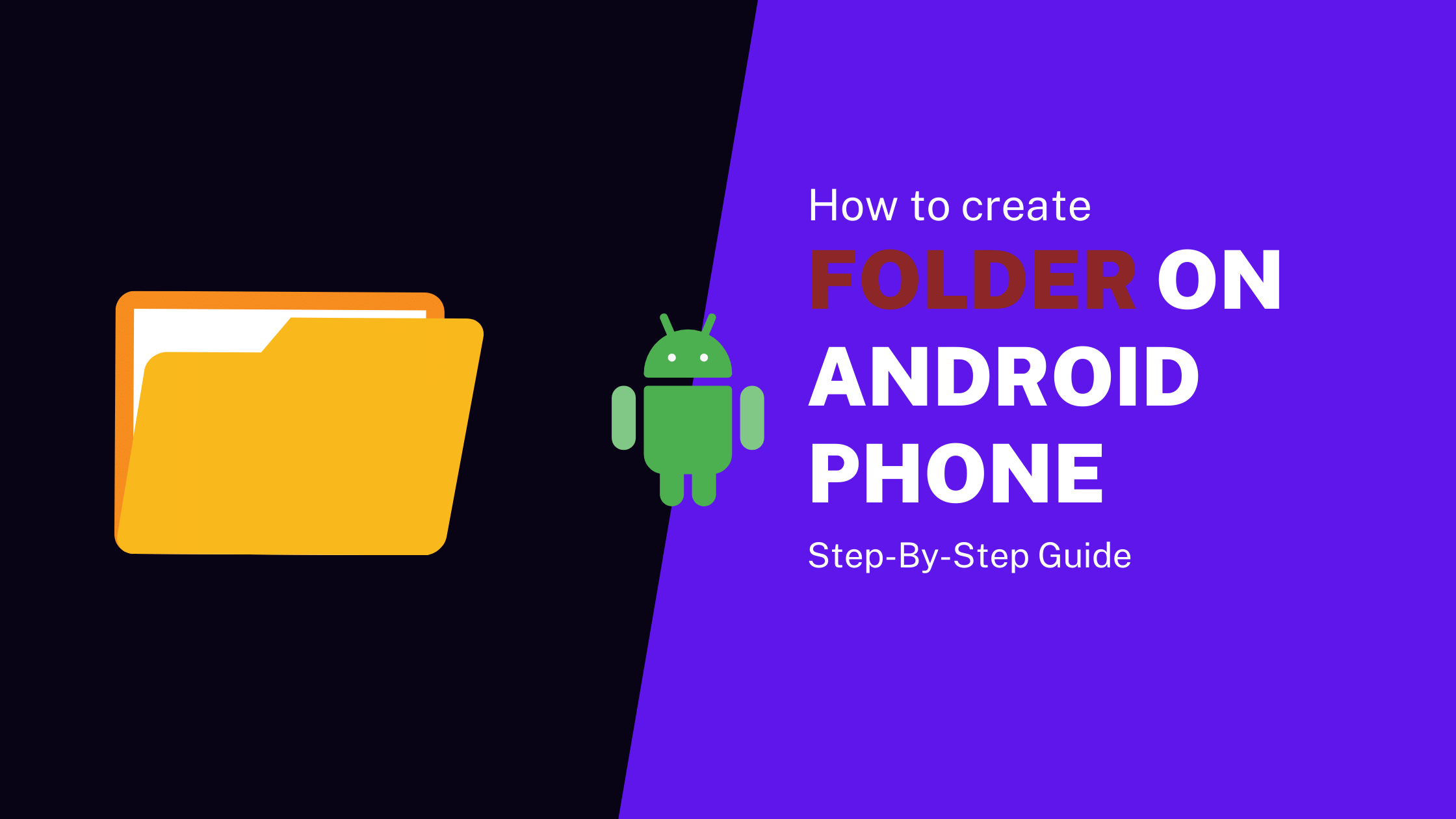 how to create folder on an android home screen