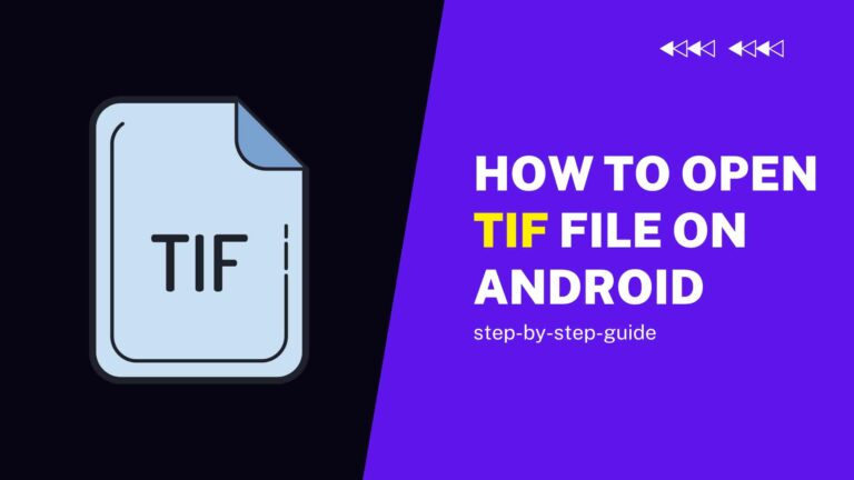 how to open tif files on android phone